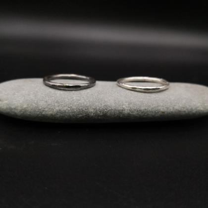 Minimalist Simple Silver Stacking r..